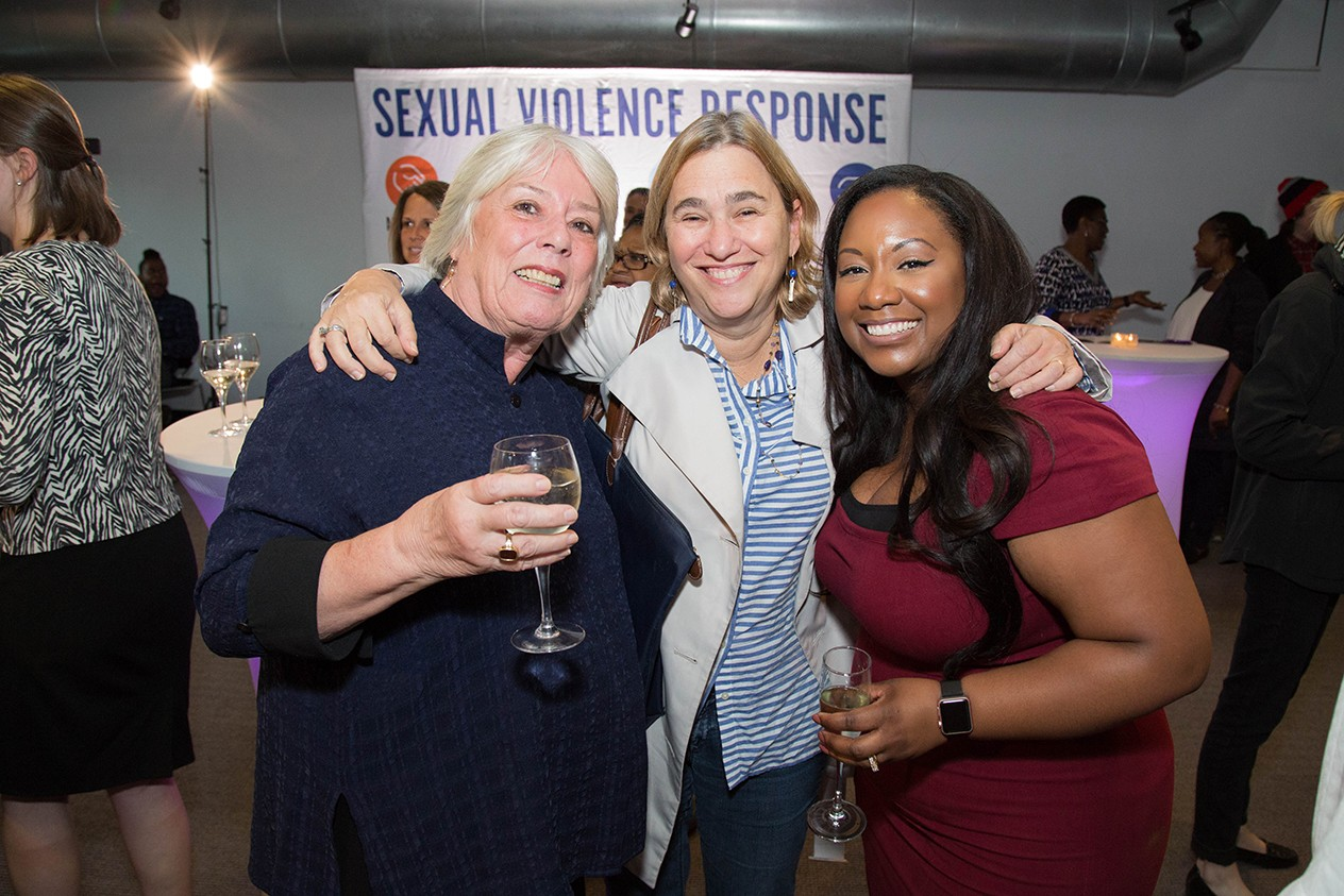 La'Shawn Rivera, Executive Director for Sexual Violence Response, at the 25th anniversary event for Sexual Violence Response..